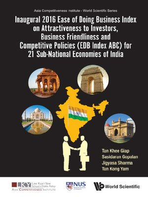 cover image of Inaugural 2016 Ease of Doing Business Index On Attractiveness to Investors, Business Friendliness and Competitive Policies (Edb Index Abc) For 21 Sub-national Economies of India
